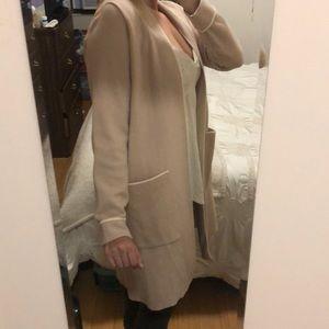 Zara Sweaters - Zara Dusty Rose Long Cardigan
